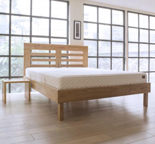 cadre de lit cadet t te de lit double ajour e nation literie. Black Bedroom Furniture Sets. Home Design Ideas