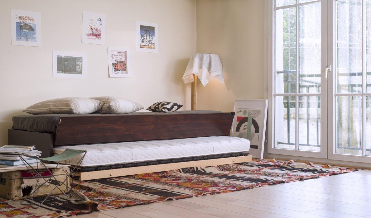 soldes lit gigogne nation literie. Black Bedroom Furniture Sets. Home Design Ideas