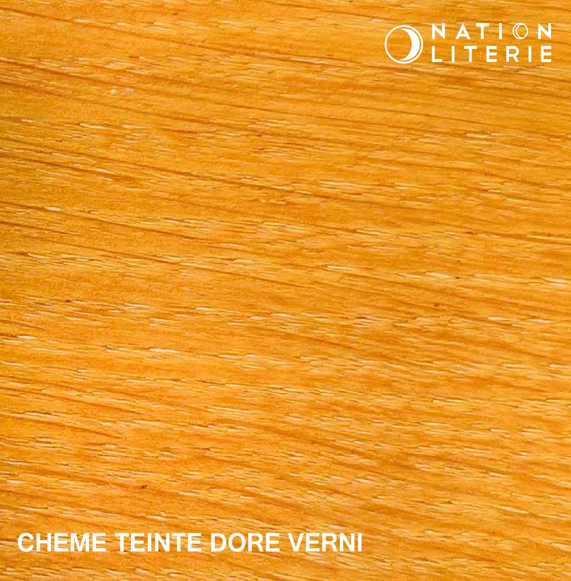 Chêne teinté doré vernis
