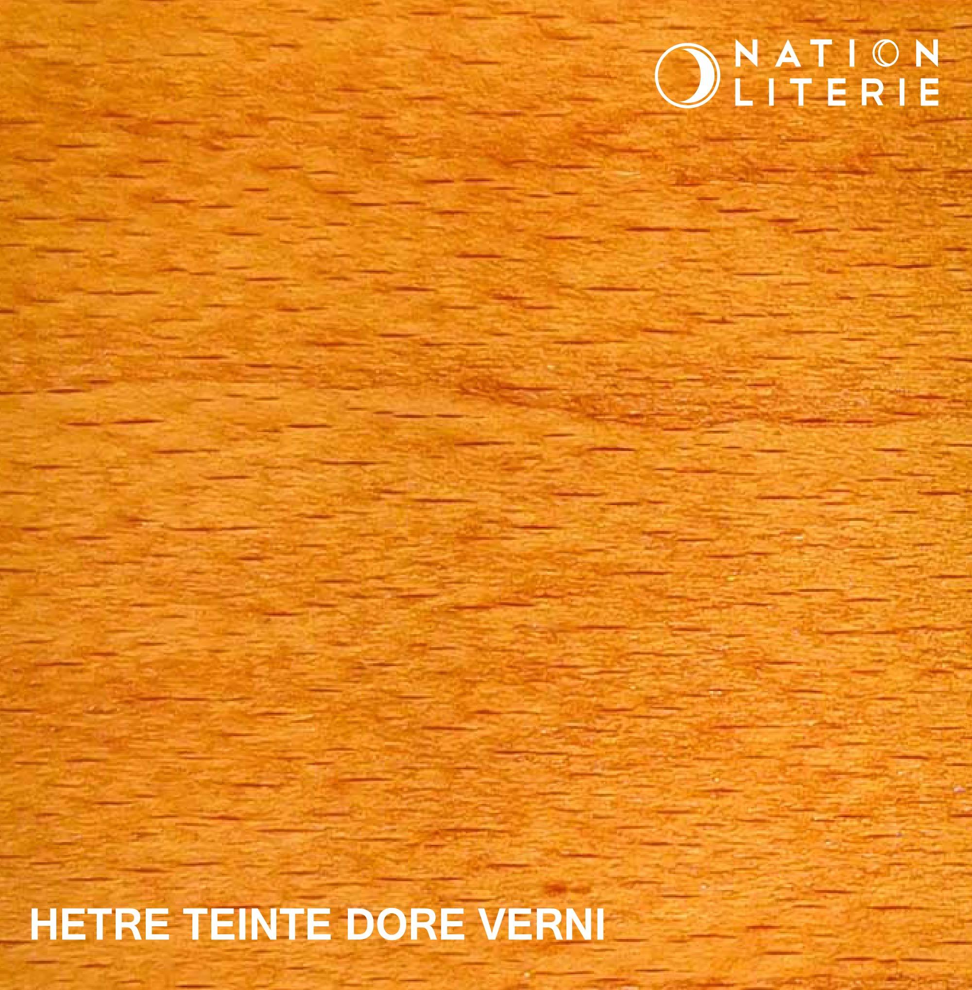 Hêtre teinté doré vernis
